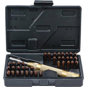 Set poansoane automate 4mm (cifre + litere)