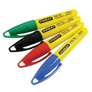 Set 4 buc mini marker permanent culori asortate varf subtire