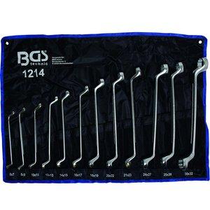 Set 12 chei inelare cu cot 6 - 32 mm
