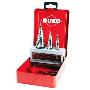 Set 3 burghie cu canale spiralate RUKO 101026, 4 - 30 mm