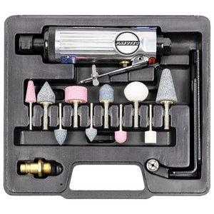 Set polizor drept (biax) PNEUTEC TClassic, 22000 rot/min, 176 mm, penseta 6 mm + 10 pietre abrazive, tip UT5720S