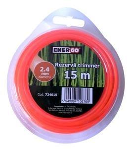 Rezerva trimmer 2.4x15m portocalie Energo