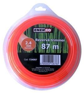Rezerva trimmer 2.4x87m portocalie Energo