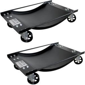 Carucior-suport pentru manevrat autoturisme, set 2 bucati