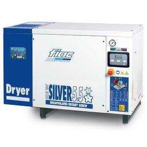 Compresor cu surub cu uscator tip NEW SILVER+D 5,5, 8 bar