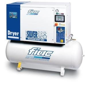 Compresor cu surub si uscator tip NEW SILVER D 5,5/200, 8 bar