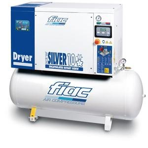 Compresor cu surub si uscator tip NEW SILVER D 10S/300, 8 bar