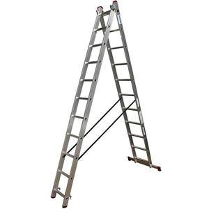 Scara multifunctionala din aluminiu Corda, 2x11 trepte
