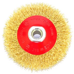 Perie conica 100 mm fir 0,3 mm din otel alamit OSBORN Germania pentru polizoare unghiulare