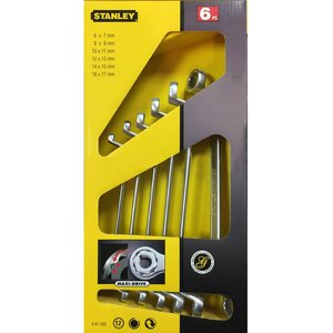 Set 6 chei inelare cu cot 6x7 - 16x17 mm