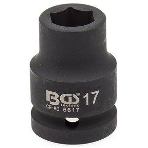 Cheie tubulara de impact, 17mm, 3/4
