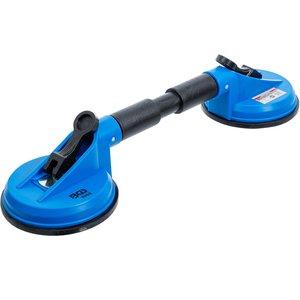 Ventuza dubla, ABS, 120mm, capete flexibile, 390mm
