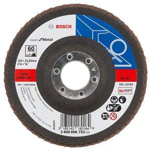 Disc de slefuire evantai X551, PM 125 mm, G60, cu degajare, suport fibra