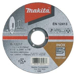 Disc taiere inox, 115x22.2x1 mm