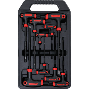 Set 9 chei duble (imbus si imbus cu bila) cu maner T, 2 - 10 mm