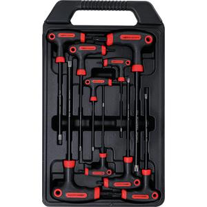 Set 9 chei duble (torx si torx cu gaura) cu maner T, T10 - T50