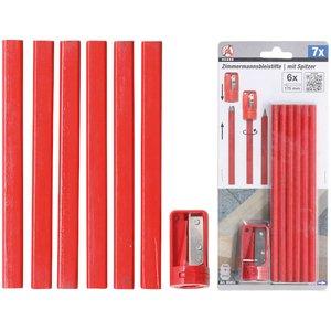 Set creioane tamplar cu ascutitoare, 7 PIESE