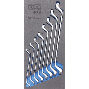 Organizator pentru carucior cu 8 chei inelare duble cotite 6-22 mm, 1/3 sertar
