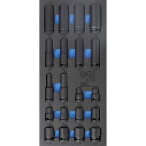 Organizator pentru sertar, 20 chei tubulare de impact 10-24mm, 1/3 sertar