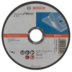 Disc taiere metal, drept, 125x22.2x1.6 mm