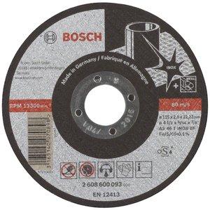 Disc taiere inox, drept, 115x22.2x2.0 mm