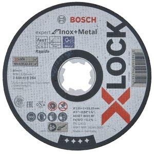 Disc taiere inoxsi metal, X-LOCK Expert, drept, 125x22.2x1.0 mm
