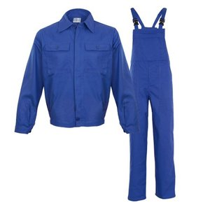 Costum salopeta cu pieptar, MEX, albastru electric, 3XL
