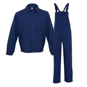 Costum salopeta cu pieptar, MEX, bleumarin, 3XL
