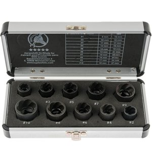 Set 10 chei speciale pentru extras suruburi, 9 - 19 mm