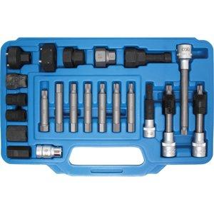 Set biţi şi chei tubulare pentru alternatoare, 23 piese