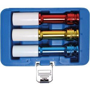 Set 3 chei tubulare de impact cu protectie, 150 mm, 1/2