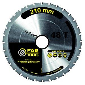 Disc placat 210x25.4mm, Z48 pentru JR210 si FI210B
